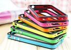 *BUMPER CASE COVER FOR APPLE iPHONE 5 5G METAL BUTTONS FREE SCREEN PRO & STYLUS*