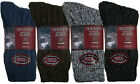 Mens Soft Wool Blend Socks Chunky Work Casual Warm Comfort Everyday Mix Colors