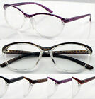 L429 Superb Quality Women's Reading Glasses & Super Fashion Style & Large Frame