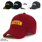 Unisex Men Women baseball cap sports outdoor hat adjustable Boston logo 5colors