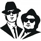 The Blues Brothers Jake and Elwood Vinyl Wall Art Sticker in any of 24 Colours