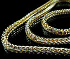 MEN*S NEW 14K YELLOW GOLD FINISH FRANCO SNAKE CHAIN NECKLASE  4MM+ FREE SHIPPING