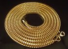 """MEN""""S NEW 14K YELLOW GOLD FINISH FRANCO SNAKE CHAIN NECKLASE  4MM+ FREE SHIPPING"""