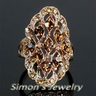 Vintage Ring with Champagne Rhinestone Crystal JA046 All Size
