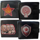 Soviet Russian Wallet Mens soft Leather gift Communist USSR Printed Picture