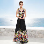 New  Dress Double V-neck  Empire Line Formal  Party Evening Causal  Gowns 09636