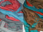 BNWT-Soft-Long-Grey/Red/Turquoise Abstract Design Shawl Scarf/Sarong-180cmx110cm