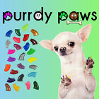 40 Pack Soft Nail Caps For Dog Claws * Purrdy Paws * USA * 23 Colors Glow Clear