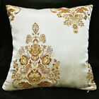 HC102a Reddish Brown Gold threads Jacquard Cushion Cover/Pillow Case*Custom Size