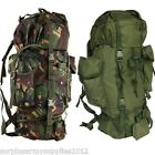 BRITISH ARMY CADET 60 LITRE RUCKSACK BERGEN HIKING MILITARY BAG CAMPING MARINE