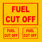 3 x  Fuel Cut Off Vinyl Car/ Window  Sticker - 2 Small 1 Large, 3 Colour Choices