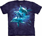 Dolphin Collage Adult  Animals Unisex T Shirt The Mountain