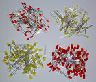 10-1000 rote oder gelbe  LEDs, 3mm, 5mm, sehr hell, diffuses Gehäuse, Neu, LED