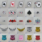 8 Ball/ Cards/ Stars/ Route 66/69 Iron-on Embroidered Cloth Patch Badge Appliqué £1.79 GBP on eBay