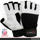 Weight Lifting Gym Fitness Gloves Body Building Training Velcro Straps M, L, XL