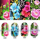 Nail Decals Full WRAPS Flower Print Water Transfer Stickers Nail DIY Decorations