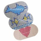 PVC Cartoon Non-Slip Shower Bath Mat with Massage Function for Home Bathroom