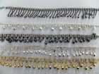 Indian Bollywood Diamante Anklet/Payal/Bracelet jingle Bells Gold,Silver Tone