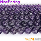 Natural Dream Lace Amethyst Crystal Round Gemstone Beads For Jewelry Making 15""