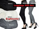 SUPER WARME und BEQUEME 500 DEN WOLLE STRICKLEGGINGS 3 FARBEN GR S-M  LEGGINGS