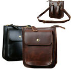 New Men's Leather Vintage Messenger Shoulder Fanny Pack Waist Chest Bag Pouch