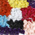 15mm DIY Flower Rose Bow Clothing Satin Ribbon Sew on Craft Decoration 8 Colors