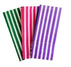 25 x CANDY STRIPE SWEET / PICK AND N MIX PAPER PARTY BAG - BIRTHDAY BUFFET BAGS