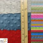 DIMPLE DOT MINKY FABRIC - 23 Colors - 60 WIDTH SOFT BABY SEW SOLD BY THE YARD
