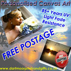 Your Photo Image Picture Print On Square Canvas  with Free Matching Mouse Mat