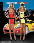 SEXY 'RACE CAR/TAXI CAB DRIVER' LADIES FANCY DRESS COSTUME...REVERSIBLE (5866)