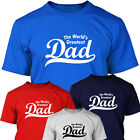 THE WORLD'S GREATEST DAD -  Mens T SHIRT - Christmas or Birthday Gift For Dad