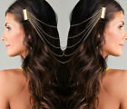 New Women Chic Hair Cuff Pin Head Band Chains 2 Combs Tassels Boho Punk Party