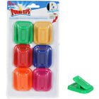 ASSORTED COLORED MAGNETIC POWER CLIPS-USE ON THE FRIDGE 6, 12, 18, or 24 Count