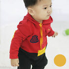New Baby layered Outfit Hoody Romper & Vest #1222  9m 12m 18m