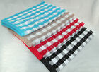 Cotton XL Large Thick Quality Kitchen Tea Towels Dishcloths Stars Checked