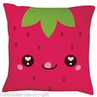 Strawberry | Face | kawaii food |  Cushion | Can Personalise | Cool |