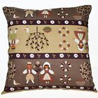 LL308a Khaki Oliver Kids Pure Cotton Canvas Fabric Cushion Cover/Pillow Case