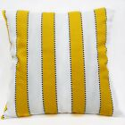 LL313a Yellow White Striped Pure Cotton Canvas Fabric Cushion Cover/Pillow Case