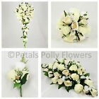 Silk Wedding Flowers by Petals Polly, BOUQUET POSY BUTTONHOLES in CHAMPAGNE GOLD