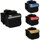 Bicycle Mobile Phone Case Cycling Front Frame Tube Pannier Pockets Bag Two Side