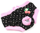 Small Female Sanitary Dog Nappies Underpants Diaper Nappy Pants Pink - S M L