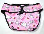 New Female Sanitary Dog Nappy Underpants Diaper Pants Pink Bunnies Print S - 2XL