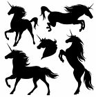 A Collection of Unicorns a Vinyl Wall Art Sticker in any of 24 Colours