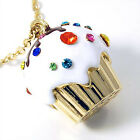 Large Cupcake Pendant Charm Necklace