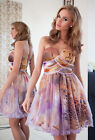 New Ladies Womens Wedding Formal Tutu Party Evening Prom Animal Mini Dress