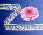 "15 Yards White 5/8"" Floral Picot Scalloped Lace KLV Buy More-Ship No Charge"