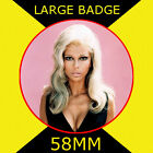 Nancy Sinatra 2 - 58MM - FRIDGE MAGNET OR BADGE OR HANDBAG MIRROR #CD1245