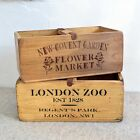 Rustic Antique Vintage Handmade Wooden Boxes Crates Shabby Trugs Kitchen Storage