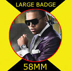 CHRIS BROWN 2 - 58MM - FRIDGE MAGNET OR BADGE OR HANDBAG MIRROR #CD1245