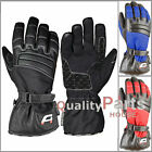 Akito Metro Waterproof Textile Leather Scooter Motorcycle Motorbike Rider Gloves